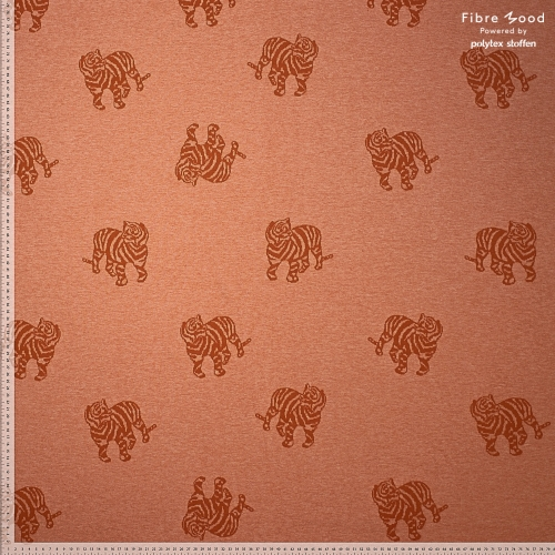 Fibre Mood Jacquard Baumwolle Tiger Brown