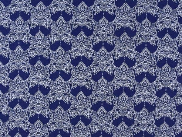 Baumwolljersey French Terry Mystic Blue